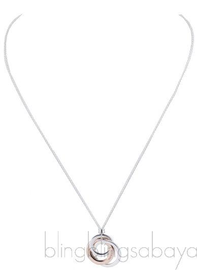 Silver Interlocking Circle Necklace