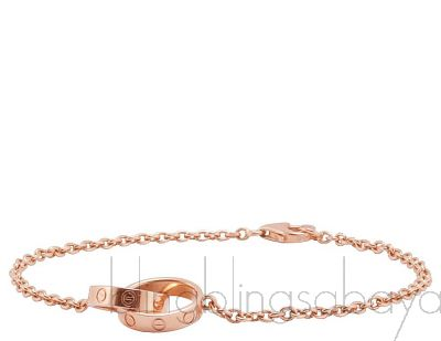 Rose Gold LOVE Chain Bracelet