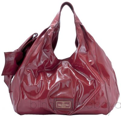 Nuage Bow Patent Leather Tote
