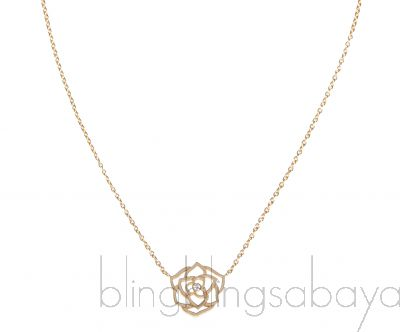 Rose Diamond Yellow Gold Necklace