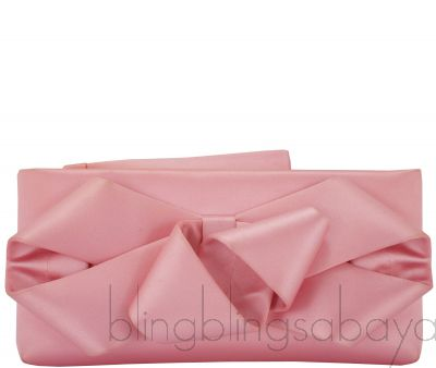Pink Bow Evening Clutch