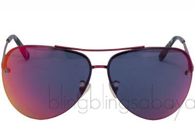 Red Slim Graduated Sunglasses