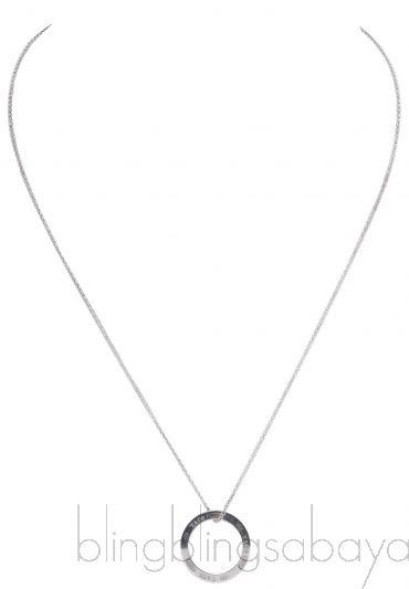1837 Circle Silver Necklace Pendant