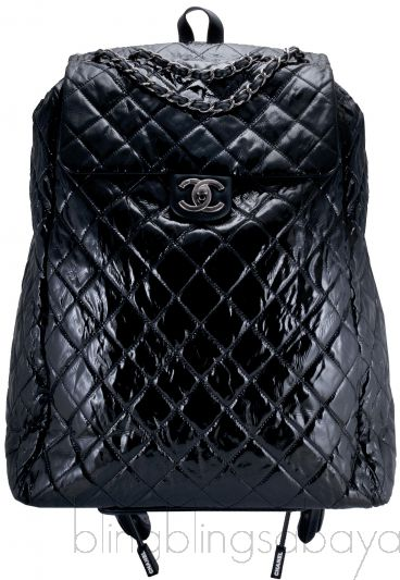 Black Quilted Shopping Trolley Bag