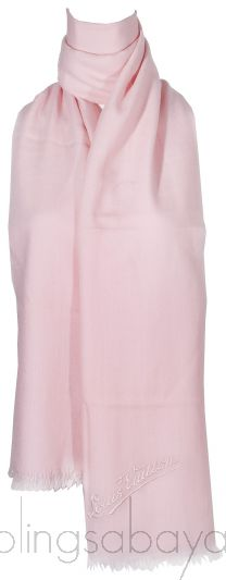 Plain Pink Cashmere Shawl