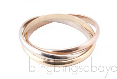 Tricolor Gold Trinity Ring