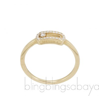 Yellow Gold Slide Diamond Ring