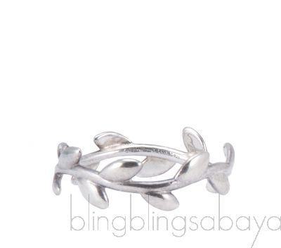 Olive Leaf Silver Ring