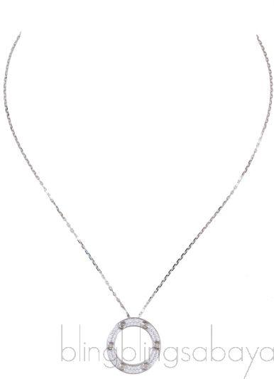 Love Diamond Paved Necklace