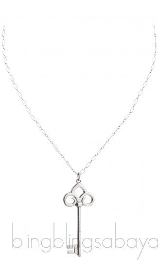 Fleur De Lis Silver Pendant Necklace