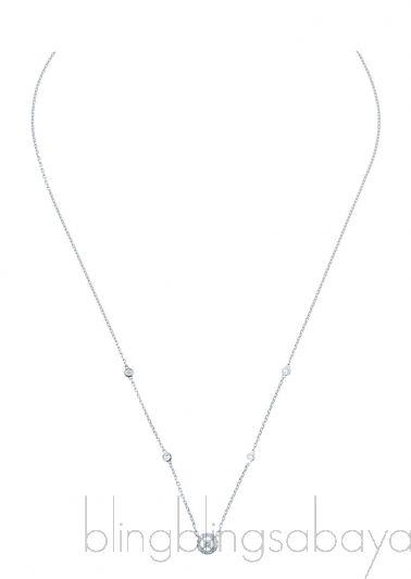 Whtie Gold Diamond Necklace Joy XS