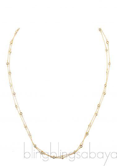 Gold Diamond Necklace & Bracelet