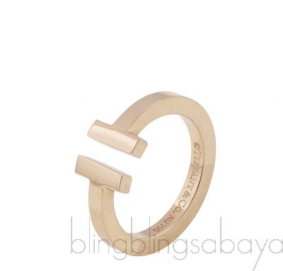 T Square Rose Gold Ring