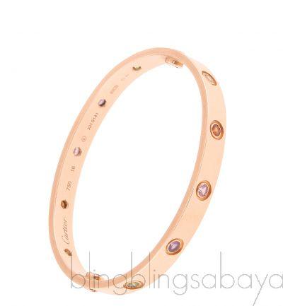 Rainbow LOVE Rose Gold Bracelet