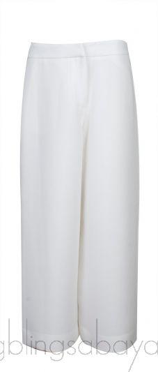 White Wide Leg Trouser