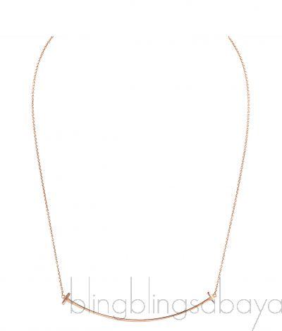 T Smile Rose Gold Necklace