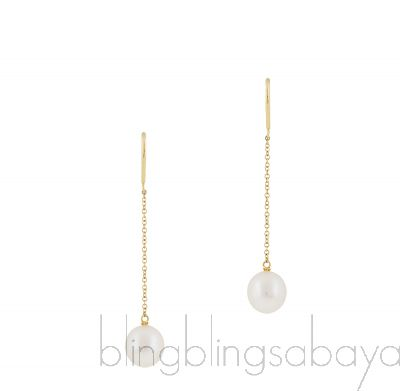 Pearls by the Yard Chain Earrings