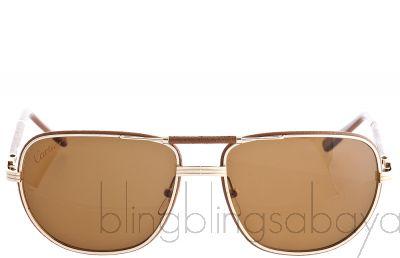 Brown 140 Gold Sunglasses