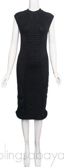 Black Tech Knit Dress