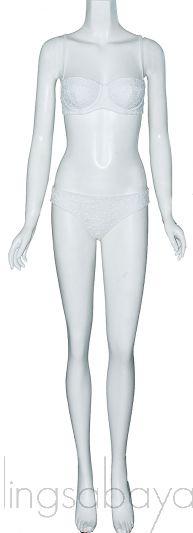 White Floral Lace Bikini & Top