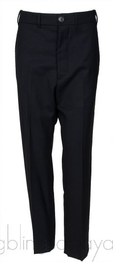 Wool Black Trouser