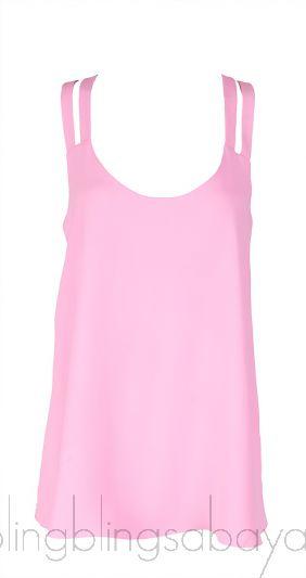 Neon Pink Sleeveless A-line Top