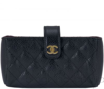 Black Quilted Phone Holder GHW*