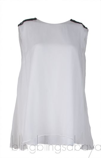 White Layered Sleeveless Top