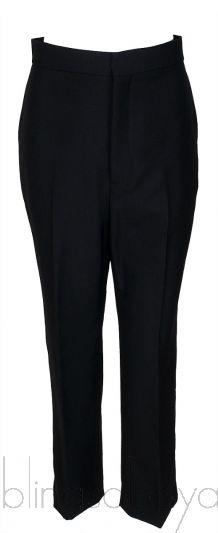 Black Wool Blend Trouser