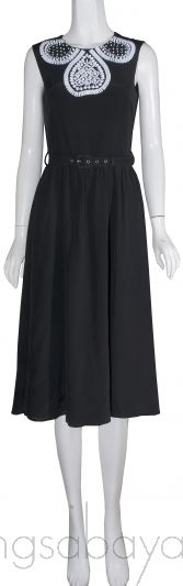 Bead Embellished Black Dress