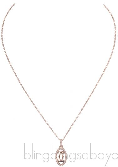 Logo Double C Diamond Necklace