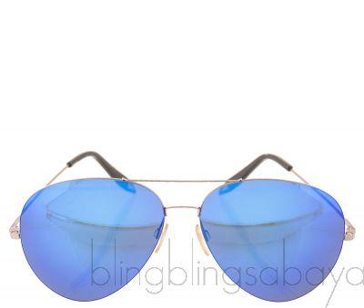 Blue Mirrored Sunglasses