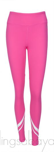 Printed Stretch-Jersey Leggings Pink