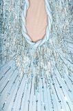 Pale Blue Sequin Embellished Dress