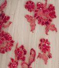 Floral Applique Nude Gown