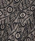 Black One Shoulder Lace Gown