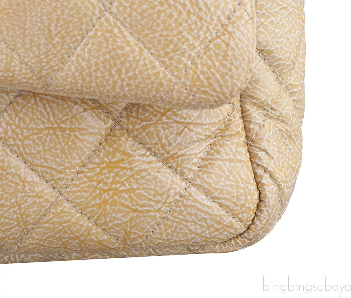 Crinkled Patent Quilted Flap Bag Jumbo