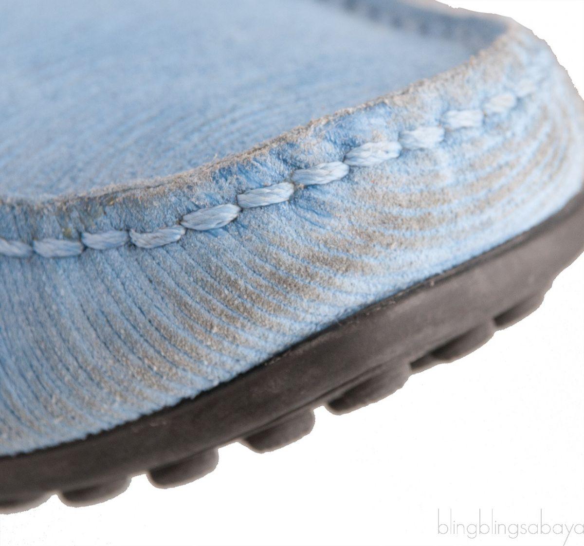 Light Blue Epi Suede Men's Loafer