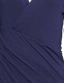 Asymmetric Purple Wrap Dress