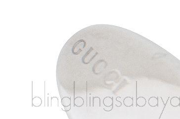GG Silver Enamel Cufflinks