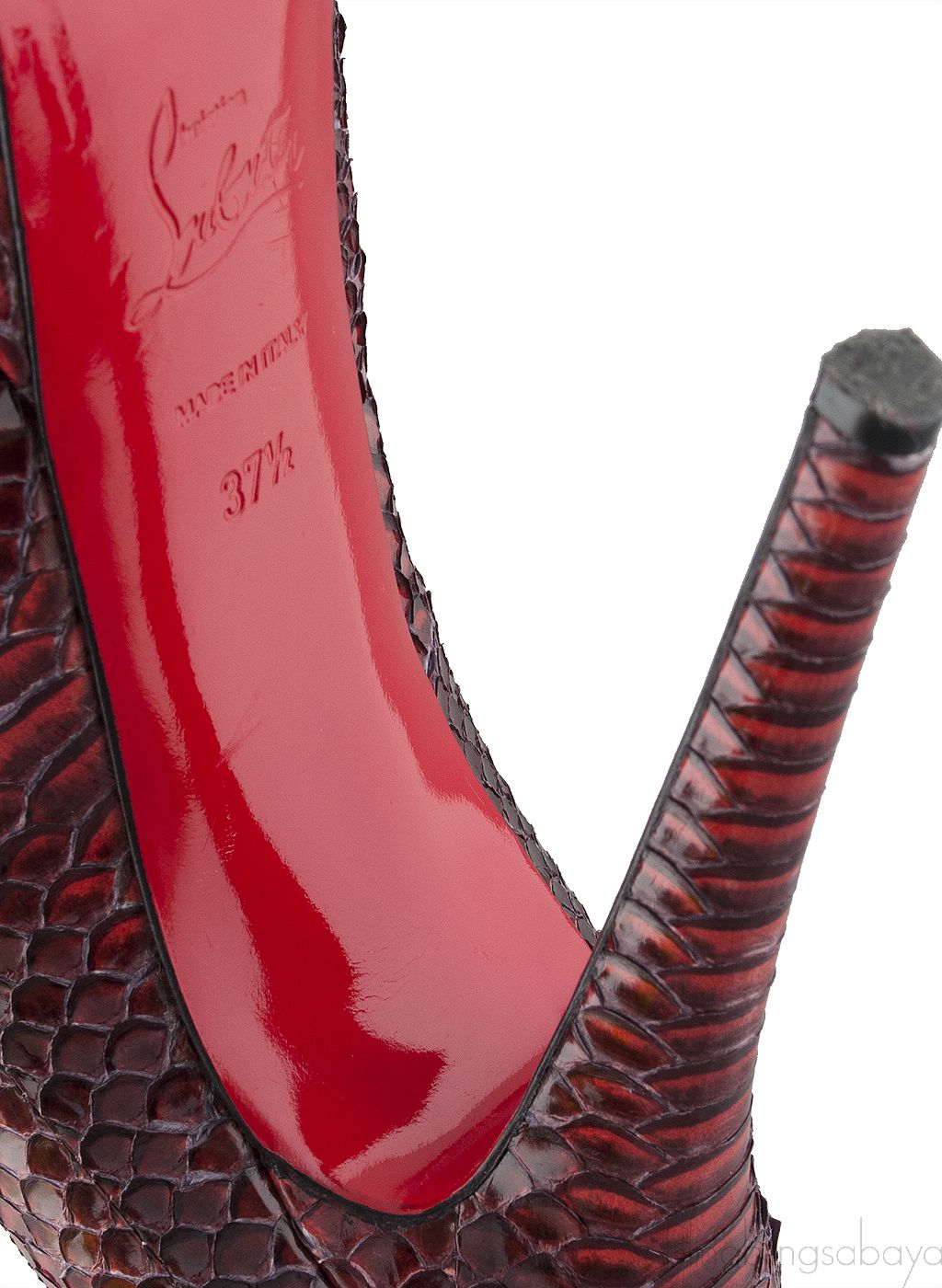 Ombre Red Python Heels