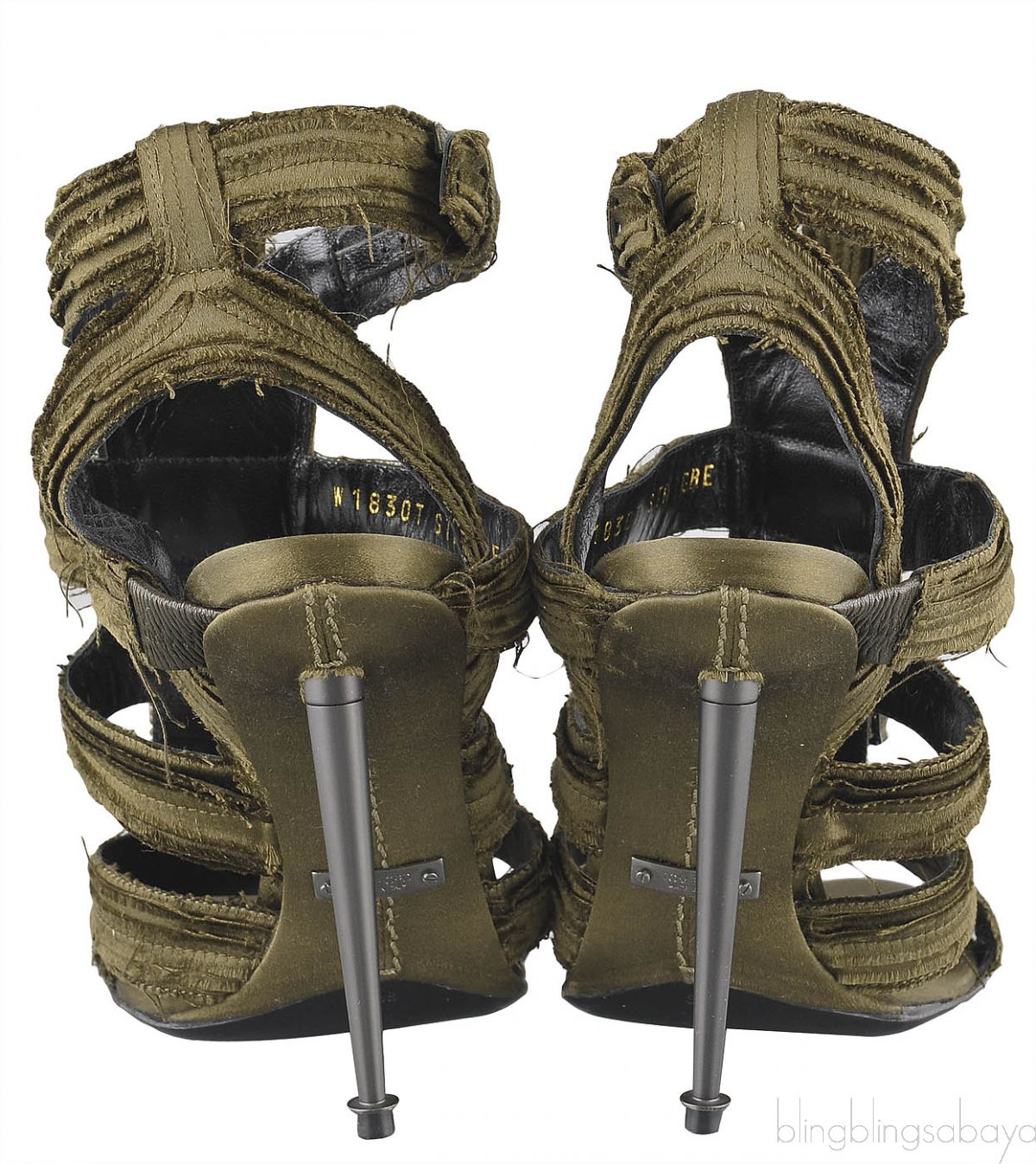 Moss Green Strappy Gladiator Sandals
