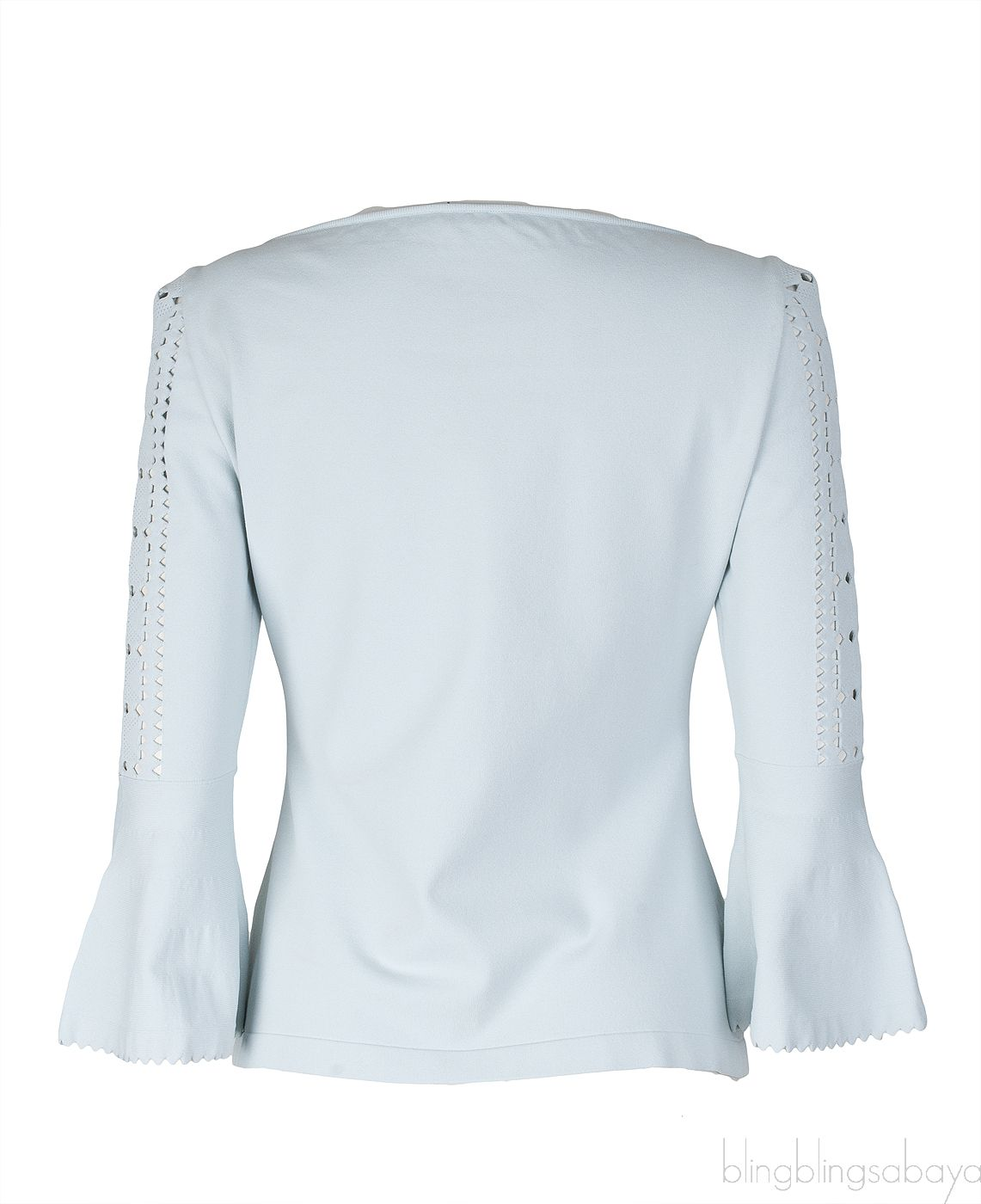 Light Blue Perforated Top