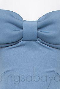 Off-shoulder Blue Grey Dress